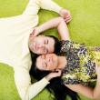 Couple relaxing at home — Stock Photo #2127122