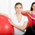 Women doing fitness exercise — Stock Photo