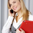 Woman talking by mobile phone — Stock Photo #2373991