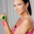 Woman during fitness exercise — Stock Photo #2455323