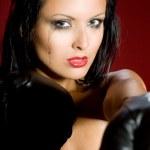 Fighting woman — Stock Photo #2455666