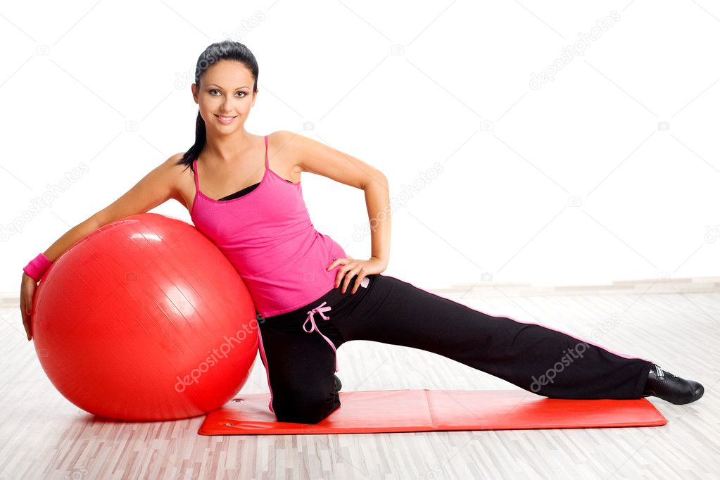 Woman during fitness exercise — Stock Photo #2455380