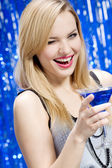 Beautiful young woman having good time i — Stock Photo