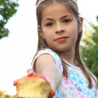 Girl with apple — Stock Photo #1689475