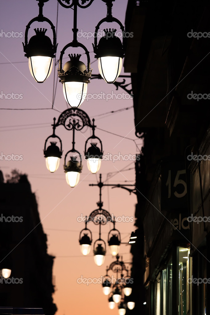 In Barcelona is a street lamp series — Stock Photo #1831161