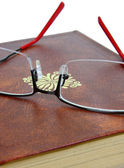 Book and glasses — Stock Photo