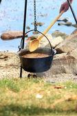 Maďarská rybí polévka — Stock fotografie