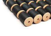 Black a thread on the coil — Stock Photo