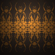 Stock Photo: Wallpapers with symmetric vector ornamen