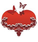 Heart with butterflies — Stock Photo