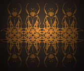 Wallpapers with symmetric vector ornamen — Stock Photo