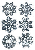 Hand made snowflakes — Stock Photo