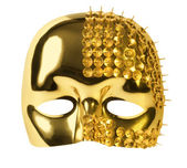 Gold carnival mask — Stock Photo