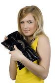 Girl with a handbag — Stock Photo