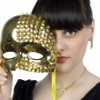 Girl with a mask — Stock Photo