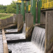 Dam on river — Stock Photo