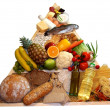 Food pyramid - Stockfoto