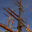 Tall ship masts — Stock Photo