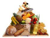 Potravinová pyramida — Stock fotografie
