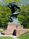 Frederick Chopin monument in Warsaw — Stock Photo