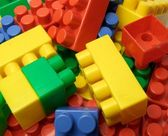 Colour play blocks — Stock Photo