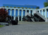 Warsaw Uprising monument in Warsaw — Stock Photo