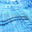 Blue jeans material — Stock Photo