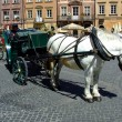 Carriage in Warsaw Old Town, Poland - Stock Photo