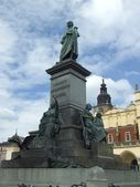 Adam Mickiewicz monument in Krakow — Stock Photo