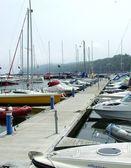 Boats in Gdynia marina, Poland — Stock Photo