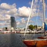 Marina in Gdynia — Stock Photo