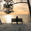 Sunset in Nida, Curonian Spit — Stock Photo