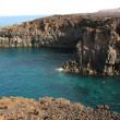 Volcanic beach in Lanzarote — Stock Photo