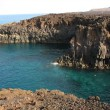 Stock Photo: Volcanic beach in Lanzarote