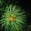 Green Fireworks — Stock Photo