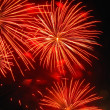 Stock Photo: Red Fireworks