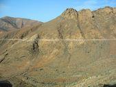 Countryside road in Fuerteventura — Stock Photo