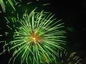Green Fireworks — Stock Photo