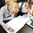 Two women work in team — Stock Photo #1654318