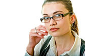 Portrait of business woman in glasses — Stock Photo