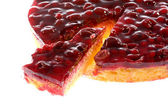 Cherry and cranberry cake. — Stock Photo