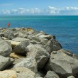 Sea and stone - Stock Photo