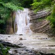 Northern caucasian waterfall - Stock Photo