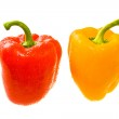 Red and Yellow Bell Peppers. Close-up 1 — Stock Photo