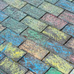 Coloured brick walkway — Stock Photo