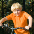 Young boy on the bike — Stock Photo #1798367