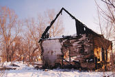 The house after a fire — Stock Photo