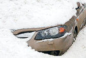 Car in a Snow — Stock Photo