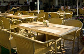 Open-air cafe — Stock Photo