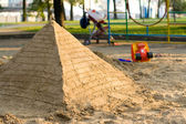 Pyramid of sand — Stock Photo